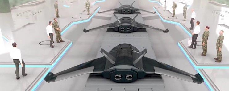 Fertige Drohnen aus dem Chemputer.