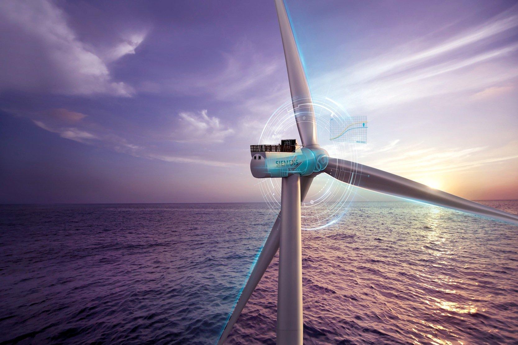 Die neue 8-MW-Anlage von Siemens basiert auf der 7-MW-Anlage, die derzeit im Testbetrieb erprobt wird. Die Größe der Rotoren bleibt unverändert, verbessert wurde die Leistung des Generators vor allem durchleistungsstärkere Permanentmagnete.