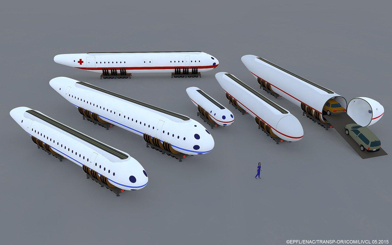 Bei Clip Air ist Modularität Trumpf. Es soll beispielsweise Kapseln für Passagiere, Patiententransporte und Autos geben.