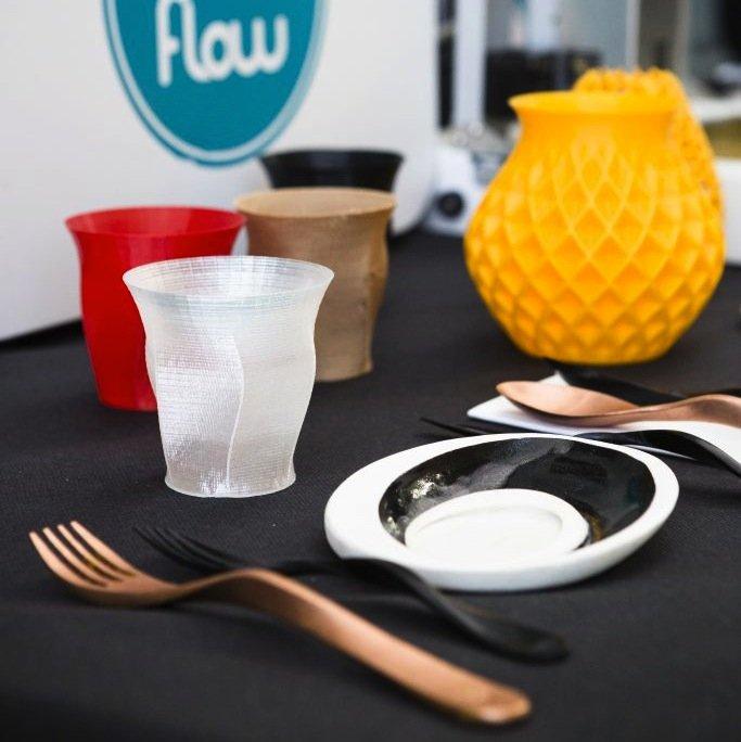 Auch das Geschirr des Restaurants stammt aus dem 3D-Drucker.