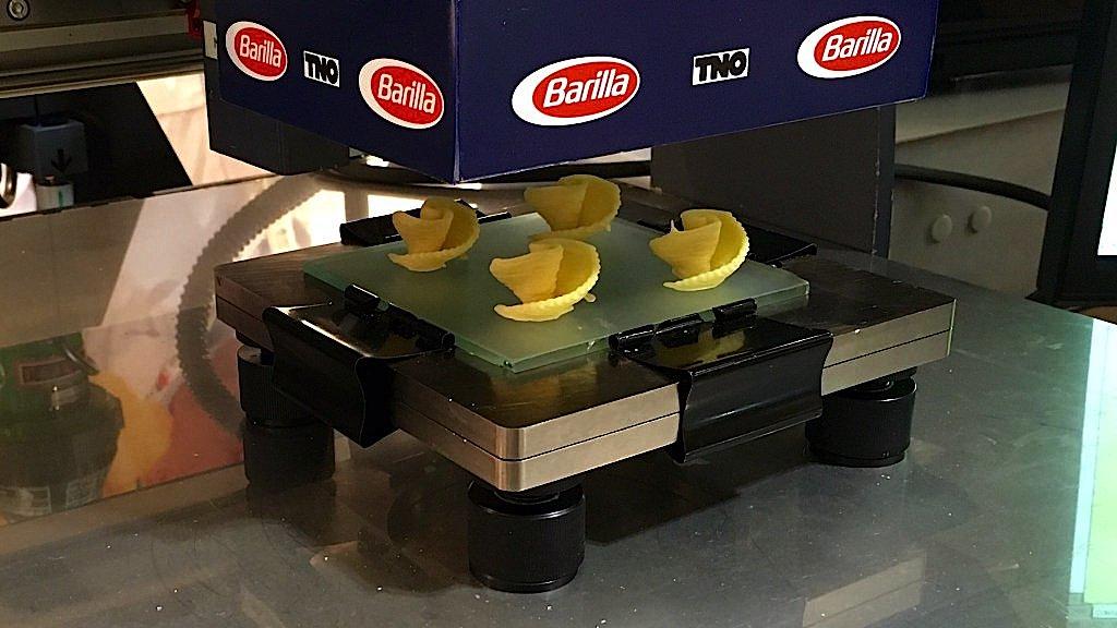 Auch der italienische Nudelhersteller Barilla experimentiert mit der Herstellern von Pasta mit 3D-Druckern.