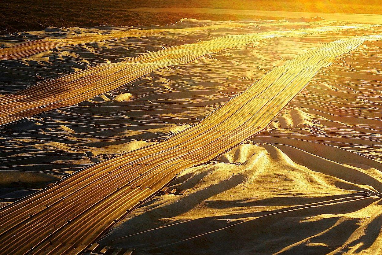 Selbst Landebahnen in der Wüste lassen sich mit den mobilen Elementen herstellen.