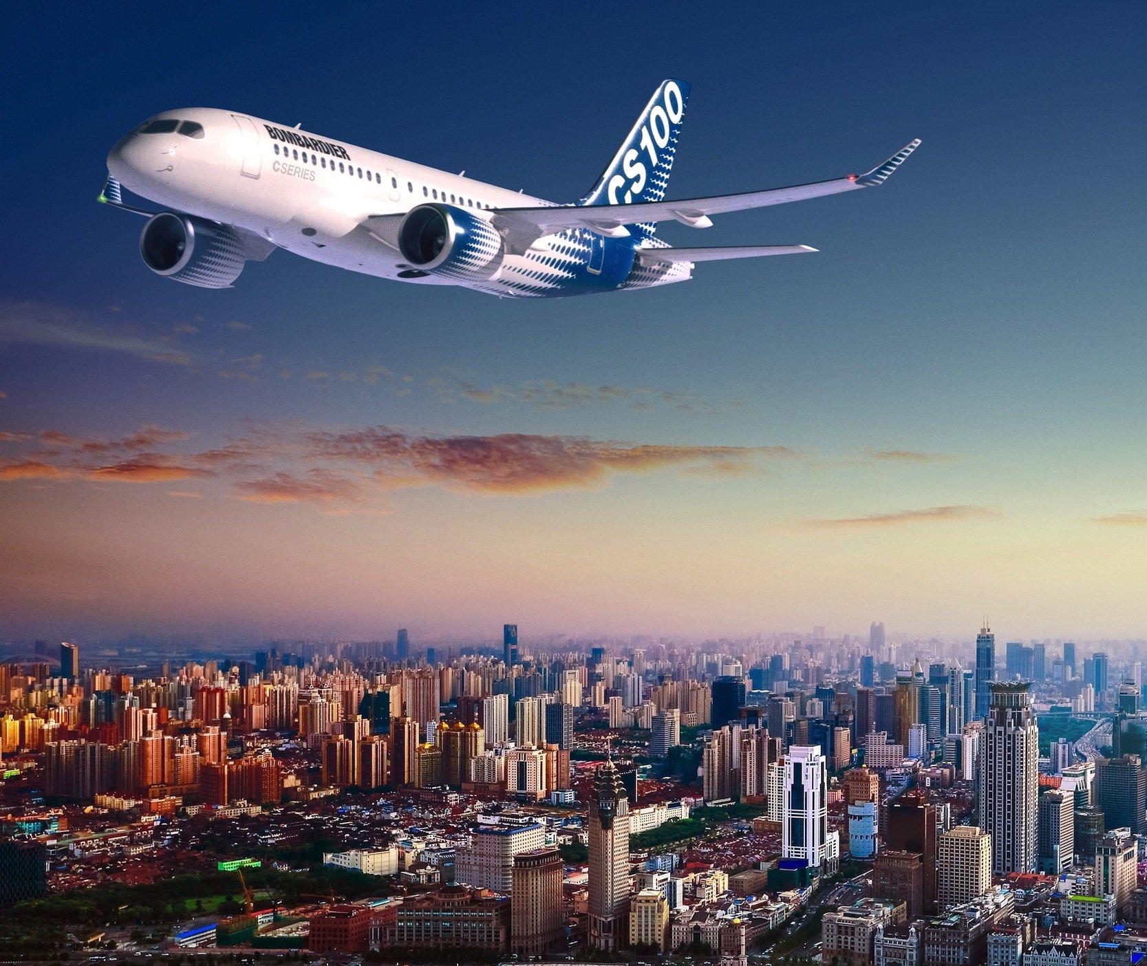 Die CS100 von Bombardier setzt seit Mitte Juli auch die Lufthansa-Tochter Swiss im Linienverkehr ab Zürich ein.