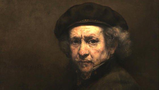 Ein Selbstportrait Rembrandts von 1659: Benutzte erein Konstrukt von konkaven und flachen Spiegeln und Linsen, um sein Gesicht direkt auf die Leinwand zu projizieren? Die britischen Forscher Francis O'Neill und Sofia Palazzo Corner sind zu dem Ergebnis gekommen: Ja, das tat er.