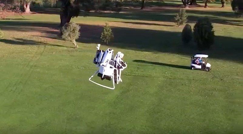Völlig abheben beim Golfen: Das Martin Jetpack Golf Cart kann bis zu einer Höhe von 900 Metern aufsteigen und 74 km/h erreichen.