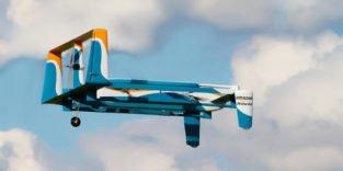 Amazon will Drohnen an Straßenlaternen aufladen