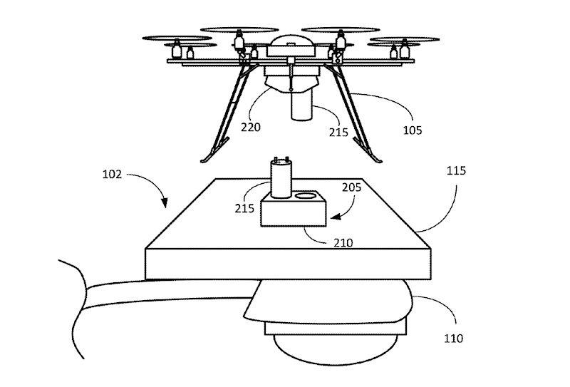 Eine Skizze aus dem US-Patent für die Dockingstation.