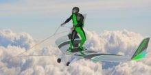 Mit dem WingBoard einem Flugzeug hinterher surfen