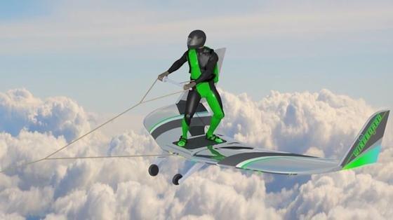 WingBoarden: Einen Namen für die möglicherweise neue Extremsportart gibt es schon. Und auch das Sportgerät. Den Windkanal-Test hat es bestanden. Nächstes Jahr soll es sich am echten Himmel beweisen.