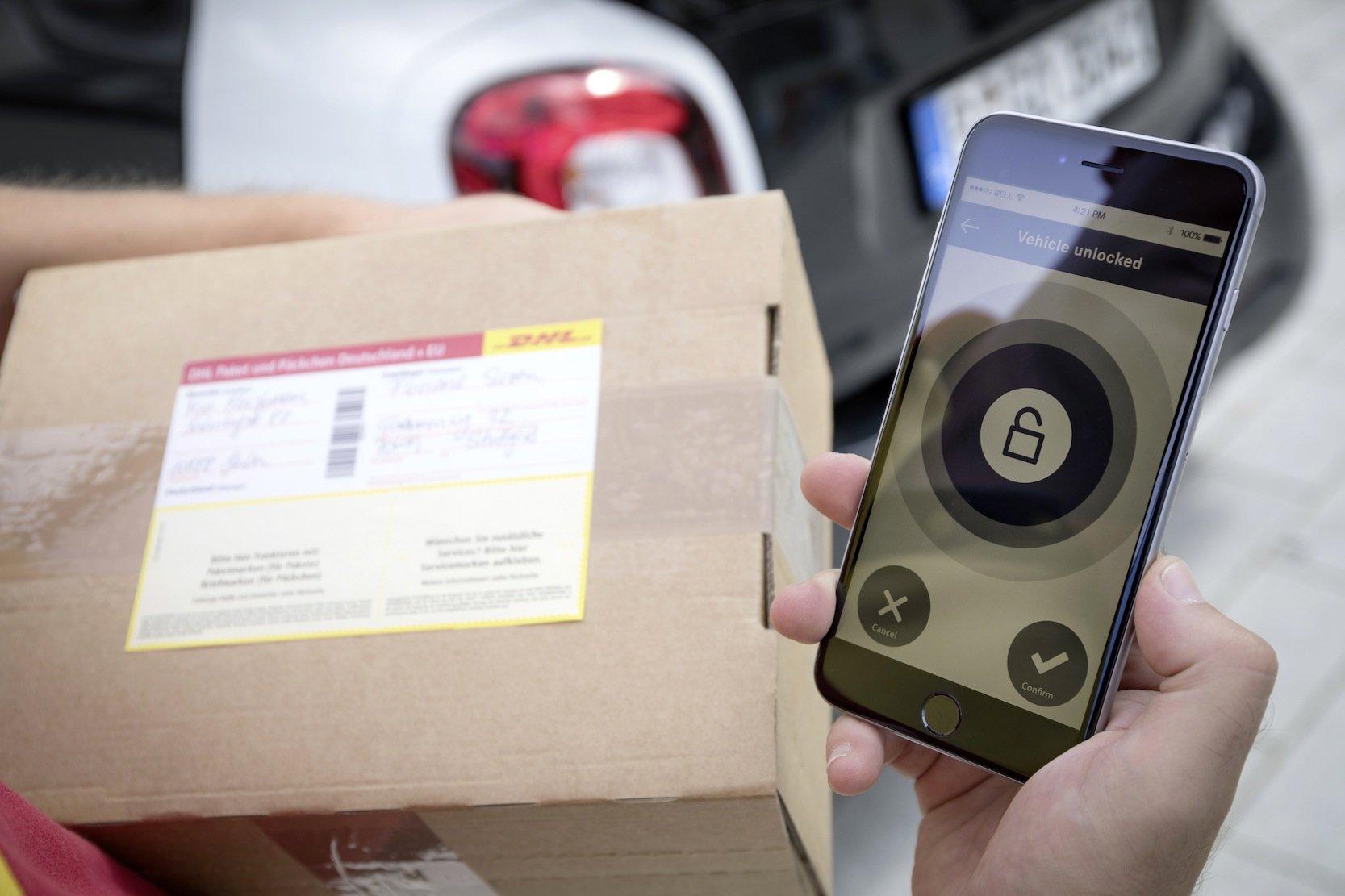 Der Paketzusteller kann den Kofferraum mit einer TAN-Nummer öffnen, die der Fahrzeughalter vergibt.