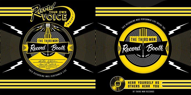 Platten-Cover des Musik-Labels Third Man Records von Jack White.