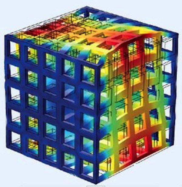 Beispiel für die dreidimensionale Komposit-Struktur.
