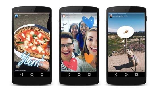 """Das Foto-Netzwerk Instagram hat sein Angebot um die Funktion """"Stories"""" erweitert, die an den Konkurrenten Snapchat erinnert. Nutzer können dabei Fotos und Videos für eine Slideshow zusammenstellen, wie das Unternehmen in einem Blogeintrag mitteilte."""