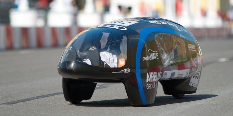 Das Elektrofahrzeug eLi14 der TU Münchenverbraucht auf 100 km die Energie von nur 0,009127 l Superbenzin. So sparsam ist kein anderen Fahrzeug auf der Welt.