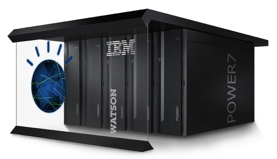Watson von IBM: Der Supercomputerist ein Rechnerverbund aus 90 Power 750 Servern mit 16 Terabyte RAM. Jeder einzelne Server besitzt einen Power7-Prozessor mit acht Kernen und einer Taktung von 3,5 Gigahertz.