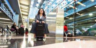 Spaß beim Reisen: Dieser Koffer ist gleichzeitig ein Go-Cart