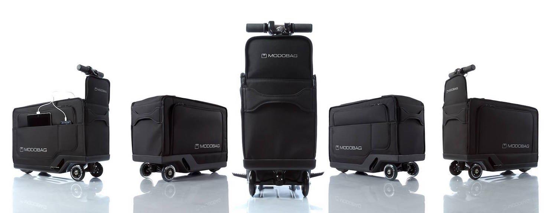 In die Koffer sind Akku und ein 150-W-Motor integriert. Eine Akkuladung ermöglicht eine Reichweite von 13 km.
