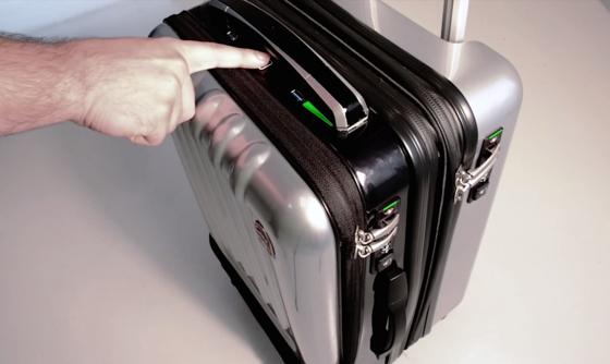 An die Sicherheit ist gedacht: Space Case 1 hat einen Fingerabdrucksensor, der den Besitzer vor dem Öffnen identifiziert.