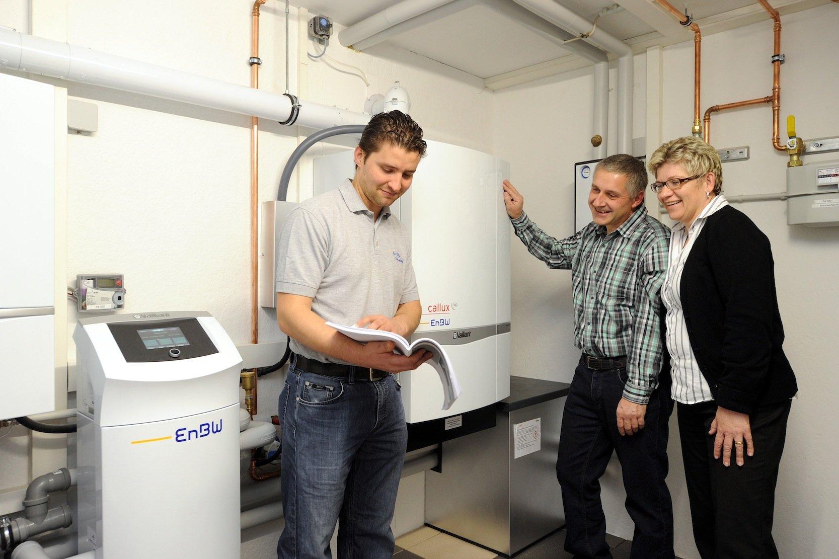 Heizungsanlage mit Brennstoffzelle: Die aktuellen Anlagen sind so kompakt wie eine traditionelle Heizungsanlage.