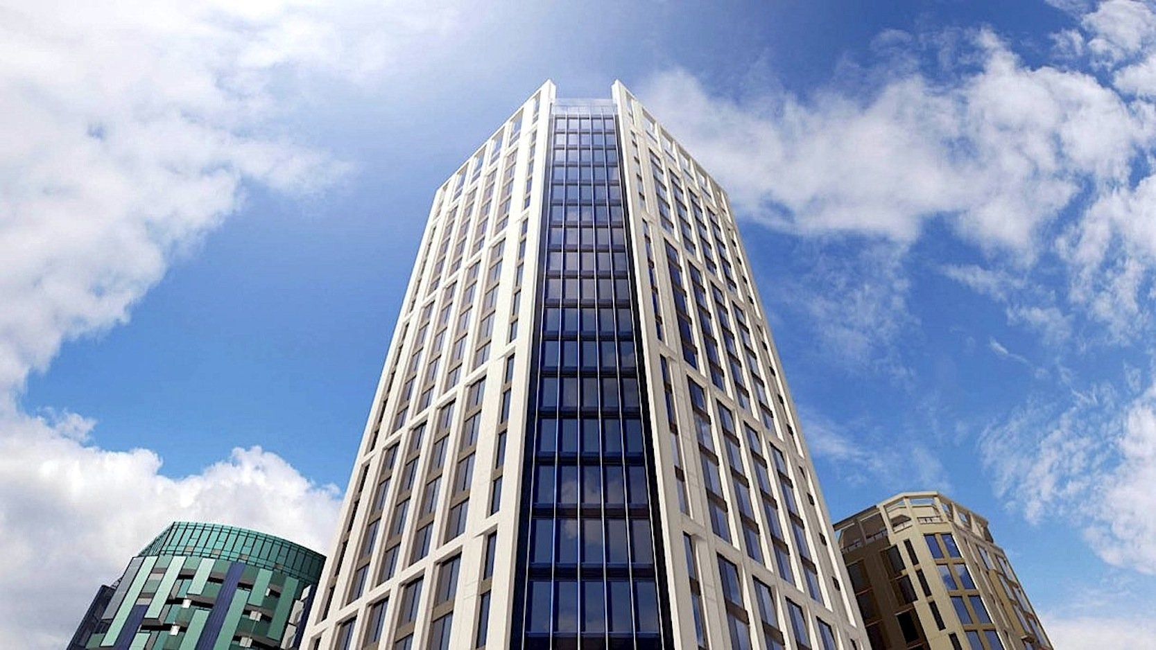 Das Apex House wird 29 Stockwerke hoch und aus vorgefertigten Modulen gebaut.