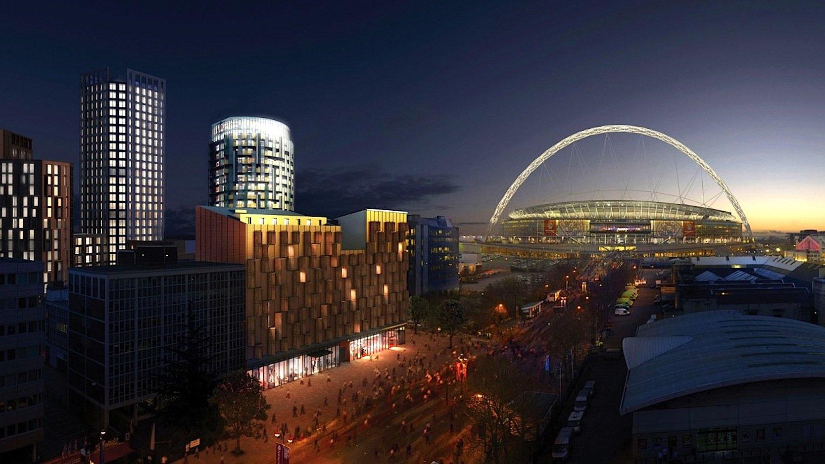 In dem Gebäudekomplex werden 560 Studentenzimmer entstehen, unweit des Wembley Stadions.
