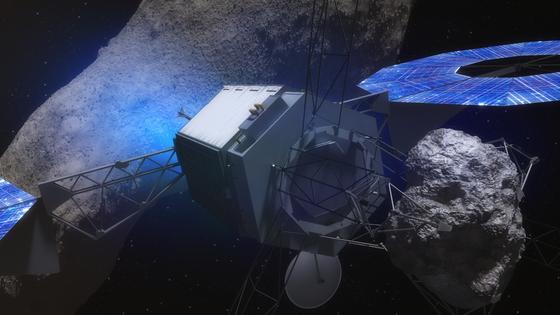Die Raumsonde wird einen tonnenschweren Felsbrocken vom Asteroiden trennen und in die Mondumlaufbahn schleppen. Flugdauer: rund sechs Jahre.