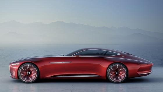 """Was für eine Form: Fast sechs Meter lang ist der""""Vision Mercedes-Maybach 6"""". Das Auto hat eine fast endlose Motorhaube und Flügeltüren."""