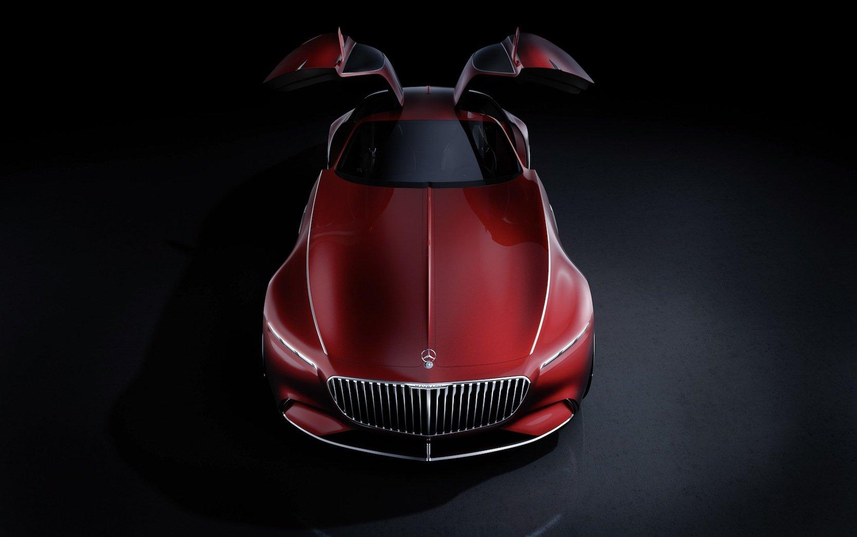 Der Mercedes-Maybach 6 hat elegante Flügeltüren und deutlich sichtbare Kotflügel vorne.