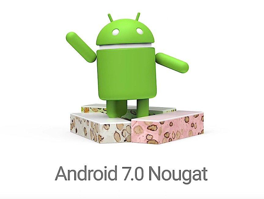Symbol des neuen Google-Betriebssystems Android 7.0 Nougat.