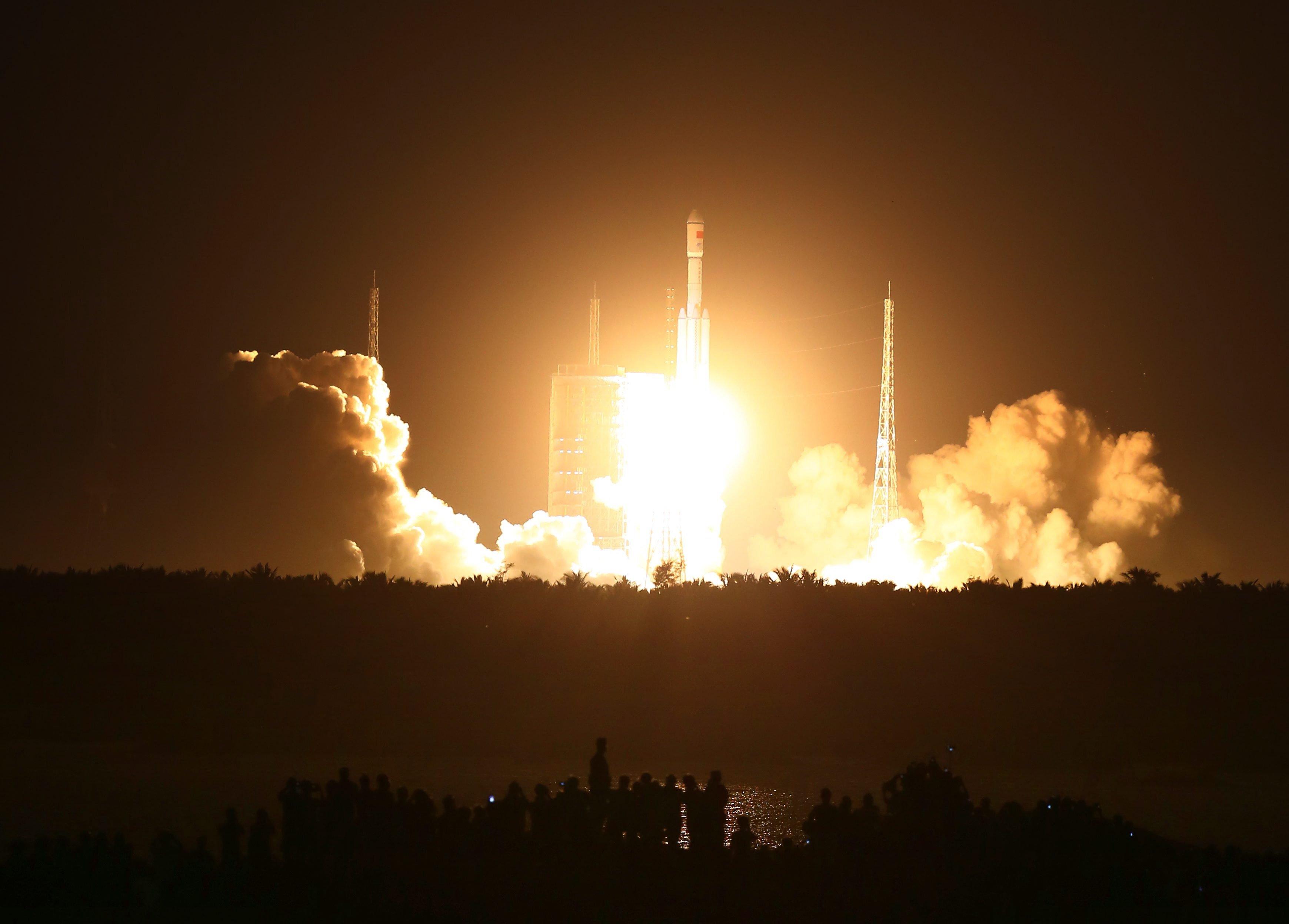 Mit dem Start der neuen Rakete