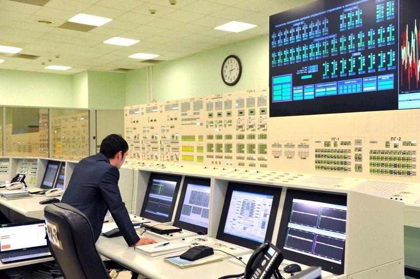 Kontrollzentrale des Schnellen Brüters inBeloyarsk: Der Reaktor nutzt das Plutonium aus verschrotteten Atombomben.