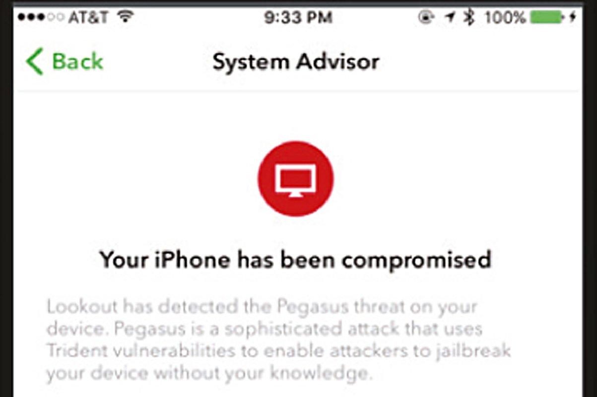 Screeenshot einer iPhone-Bildschirmanzeige mit dem Satz