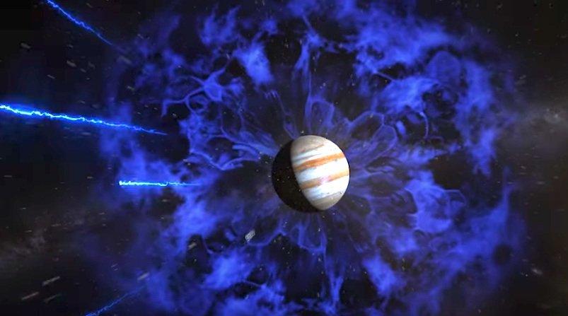 Jupiter führt ein bewegtes Leben: Die Raumsonde Juno soll das extrem starke Magnetfeld und die Gravitation des Planeten messen. Auch Jupiters Innenleben birgt noch Rätsel: Hat er einen festen Kern oder besteht er komplett aus Gas und Flüssigkeit?