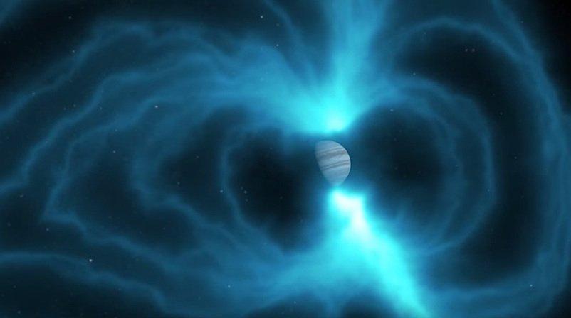 Jupiter zieht in durchschnittlich 778 Millionen km Entfernung zur Erde seine Bahnen.