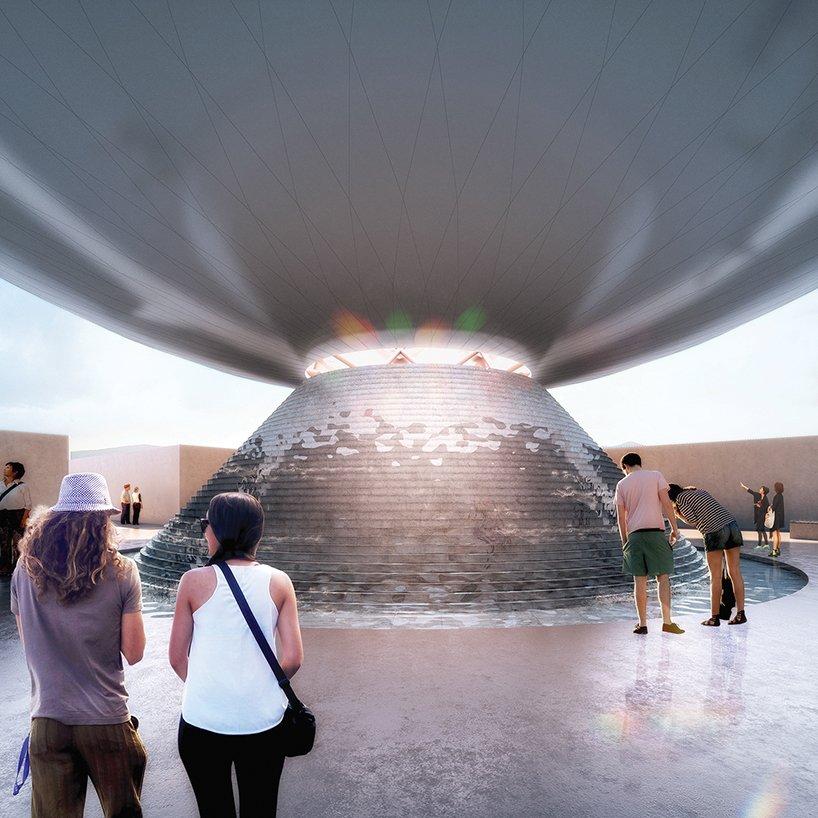 Besucher können das Innere von Clear Orb besichtigen. Dort strömt Meerwasser in die Kugel, verdunstet und wird als Kondensat aufgefangen. Das so entstandene Trinkwasser fließt über einen großen stufenförmigen Brunnen unterhalb der Kugel, direkt vor den Augen der Besucher, hinaus.