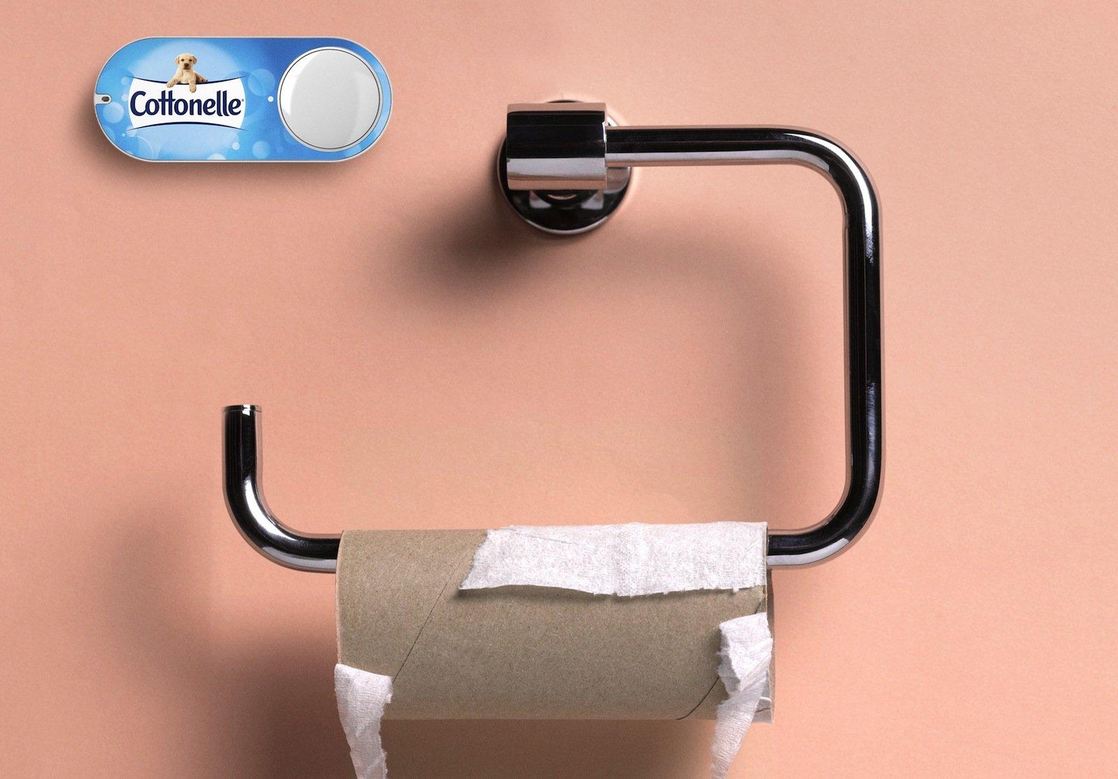 Ein bisschen im Voraus planen wäre schon sinnvoll: Wer jetzt den Dash-Button drückt, muss immerhin bis zum nächsten Tag warten, bis Toilettenpapier angeliefert wird.