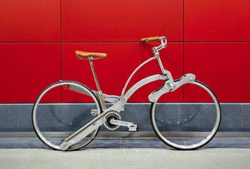 Chic anzusehen. Wie stabil die Radkonstruktion ohne Speichen ist, muss sich erst im Alltag noch zeigen.