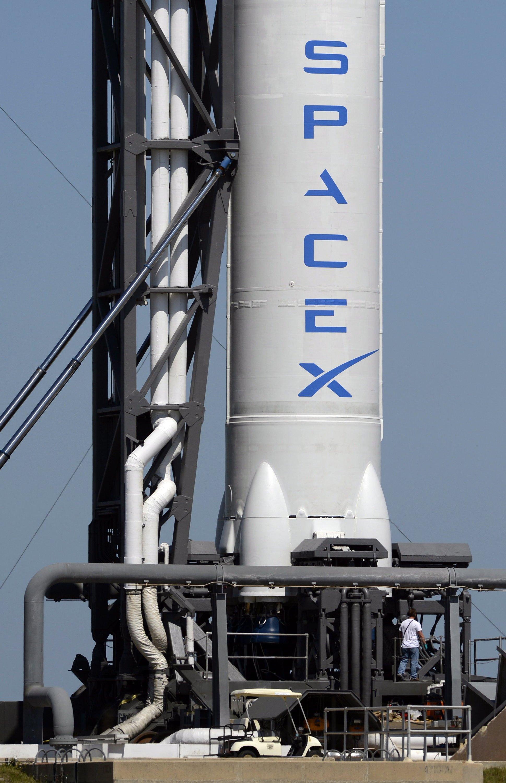 Eine Falcon-9-Rakete von SpaceX.