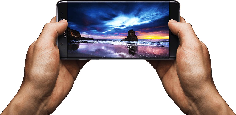 Mit einer Displaygröße von 5,7 Zoll zählt das Galaxy Note 7 zu den sogenannten Phablets – ist also eine Mischung aus Smartphone und Tablet-Computer.