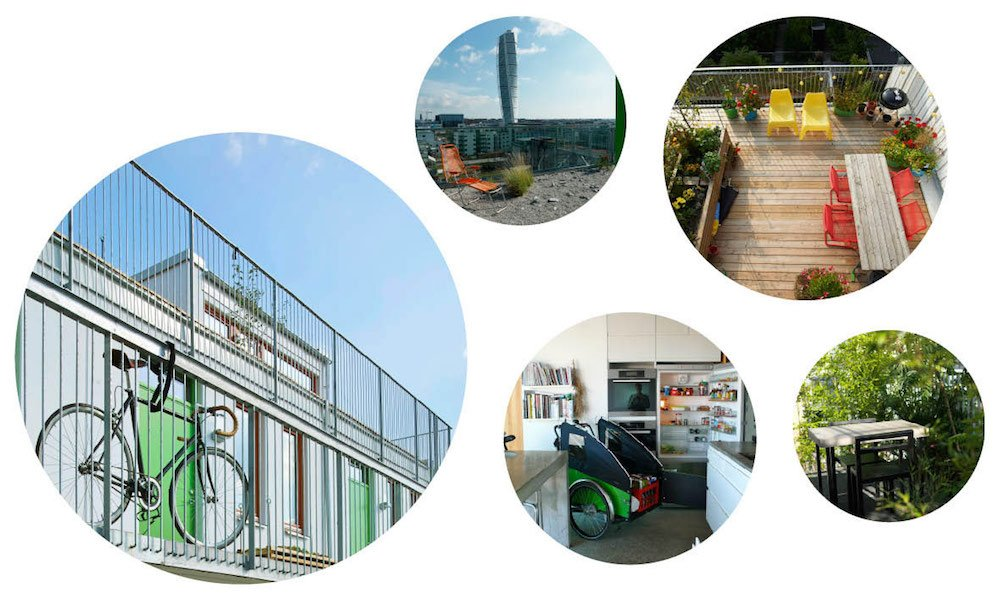 Das Cykelhuset Ohboy bietet alles für die urbane Mobilität mit dem Fahrrad. Selbstverständlich sind Ladestationen für die immer beliebter werdenden E-Bikes vorhanden. Auf dem Dach des Gebäudes befindet sich eine Orangerie mit einem schmucken Dachgarten für alle Mieter.