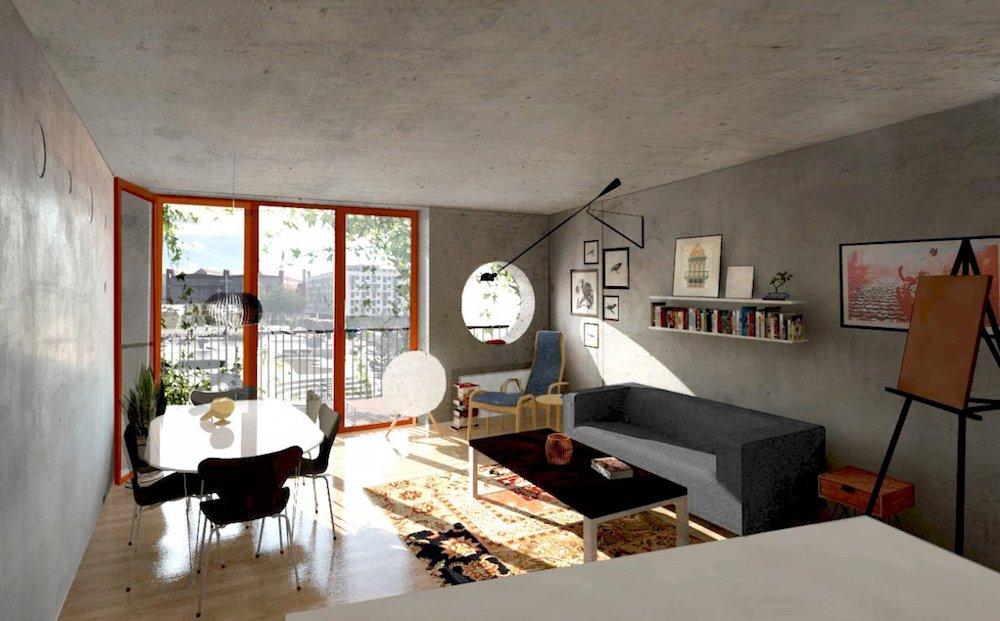 Hell flutet das Sonnenlicht in die Zimmer, die natürlich auch runde Fenster haben, um dem Zweirad zu huldigen.