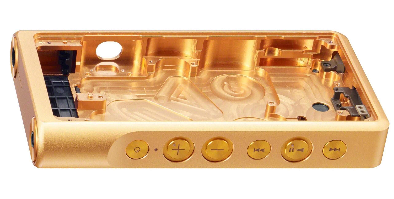 Das Gehäuse des neuen Sony-Walkman besteht aus goldbeschichtetem Kupfer.