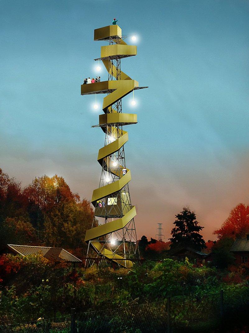 In den Abendstunden wirken die Power Tower durch die Illumination besonders imposant.