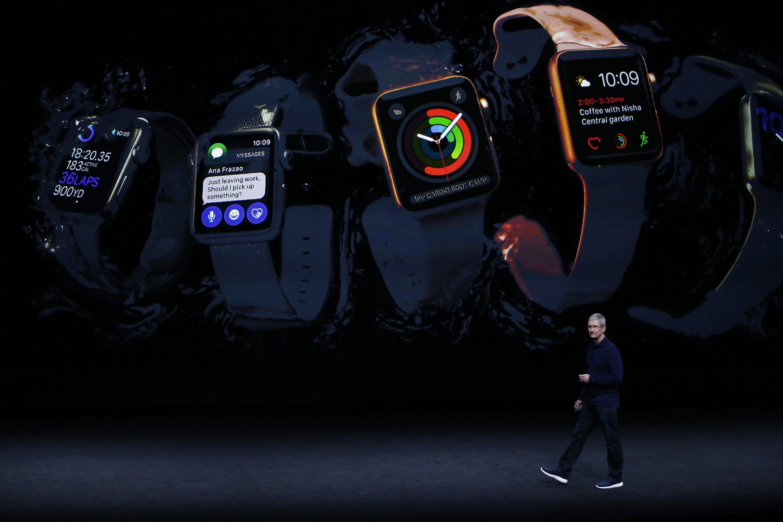 Apple-Chef Tim Cook stellte in Cupertino auch die neue Apple Watch vor.