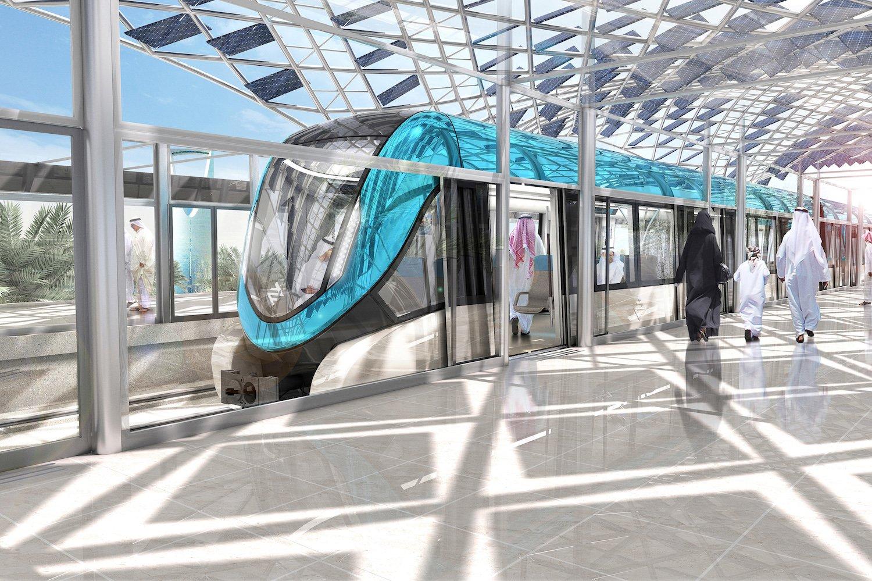 Wo ist der Fahrer? Nicht da! Siemens zeigt auf der Messe eine fahrerlose U-Bahn, die in Saudi-Arabiens Hauptstadt Riad zum Einsatz kommen wird.