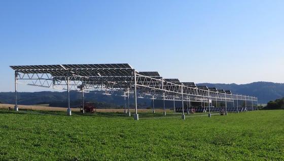 Im März 2016 wurde ein Prototyp der APV-Anlage installiert. Die dabei gewonnenen Erkenntnisse sind in die finale Auslegung und Gestaltung der Forschungsanlage eingeflossen.