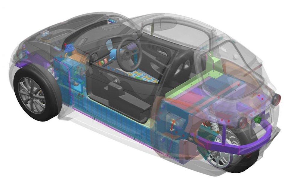 Unter der Motorhaube des Solo arbeitet ein 83-PS-Elektromotor. Er beschleunigt den 450 kg leichten Einsitzer auf 130 km/h.