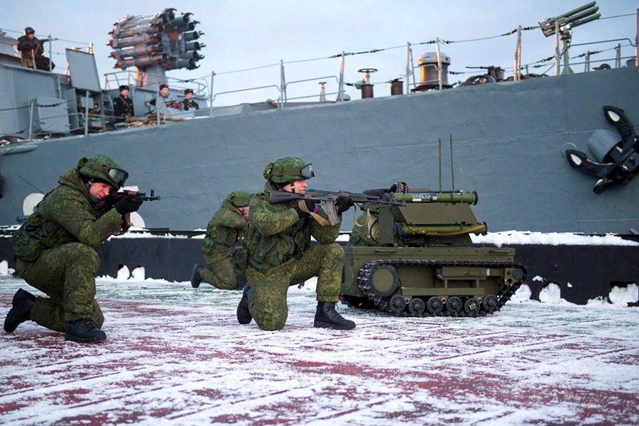 Russland soll seinen Kampfroboter Platforma-M bereits im Irak beim Kampf gegen Rebellen eingesetzt haben.