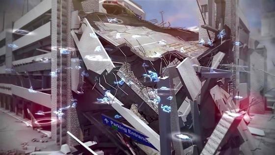 Simulation eines eingestürzten Parkhauses mit Toten und Verletzten: Eine neue Technik aus Israel kann die Smartphones von Verschütteten orten und sie in 3D-Modellen für die Rettungskräfte sichtbar machen. Das soll ihre Rettung entscheidend beschleunigen.
