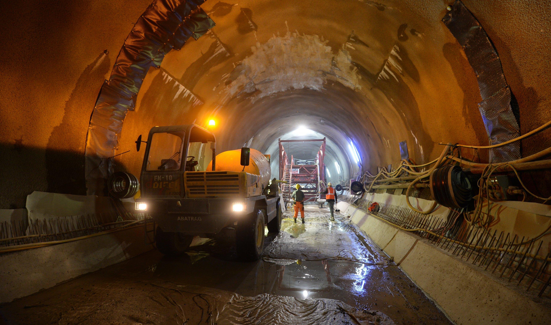 Bauarbeiter Anfang September im Cannstatter Tunnel des Bahnprojekts Stuttgart 21.
